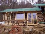 neotvíravá velká okna budou prosvětlovat obytnou kuchyň