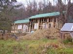zalaťovaná střecha a dokončení montáže oken