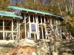 montáž EURO oken a dokončení dřevěné konstrukce